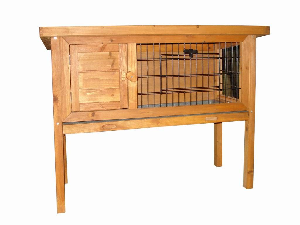 Rabbit guinea pig cage hutch run wire door ebay for Wooden guinea pig cage