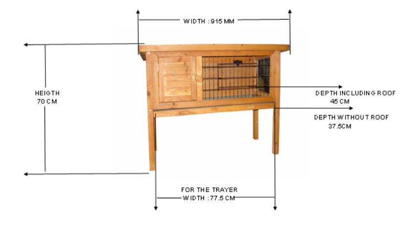 Rabbit guinea pig cage hutch run wire door ebay for How to build a guinea pig cage out of wood